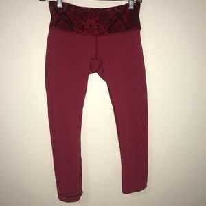 Lululemon Cropped Wunder Under Pant